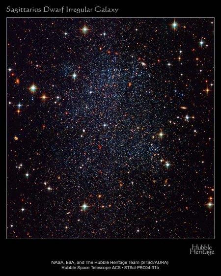 Карликовая неправильная галактика в Стрельце